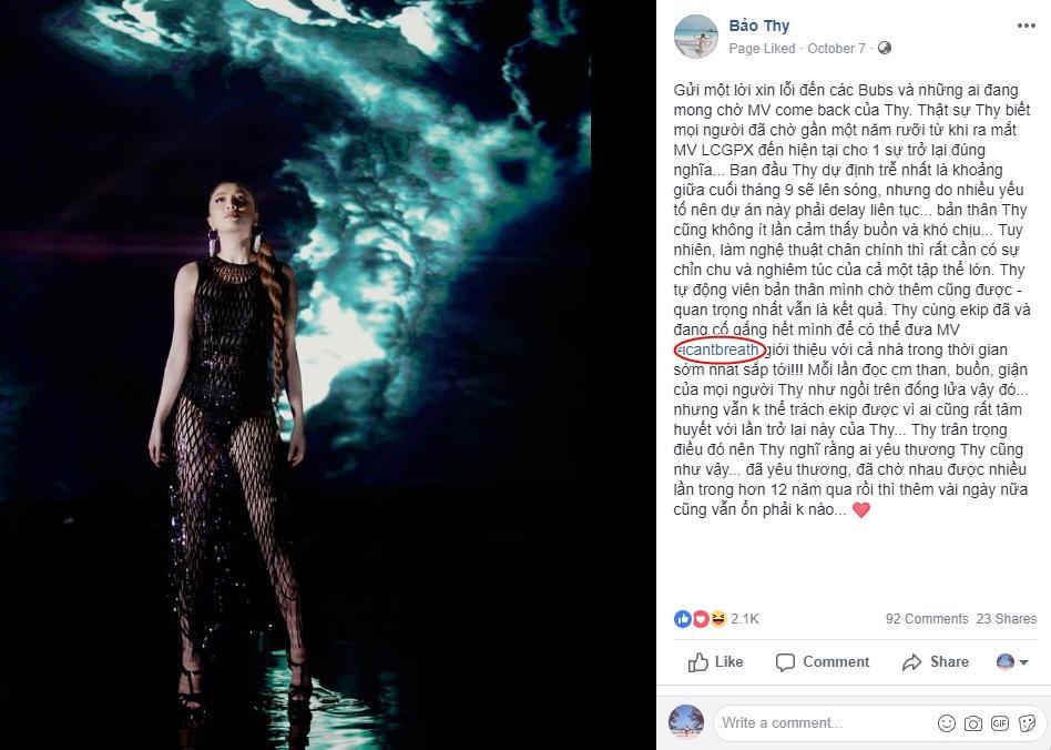 MV mới chưa kịp ra mắt, Bảo Thy đã bị soi lỗi tiếng Anh phọt phẹt lại còn đụng hàng Phí Phương Anh-1