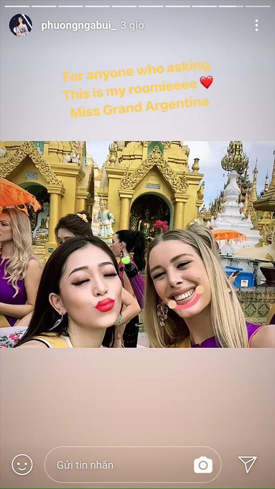 Sự thật có phải Á hậu Bùi Phương Nga bị bạn cùng phòng chơi xấu tại Miss Grand International 2018?-6