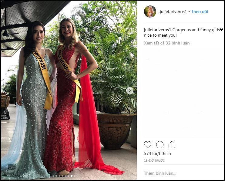 Sự thật có phải Á hậu Bùi Phương Nga bị bạn cùng phòng chơi xấu tại Miss Grand International 2018?-7