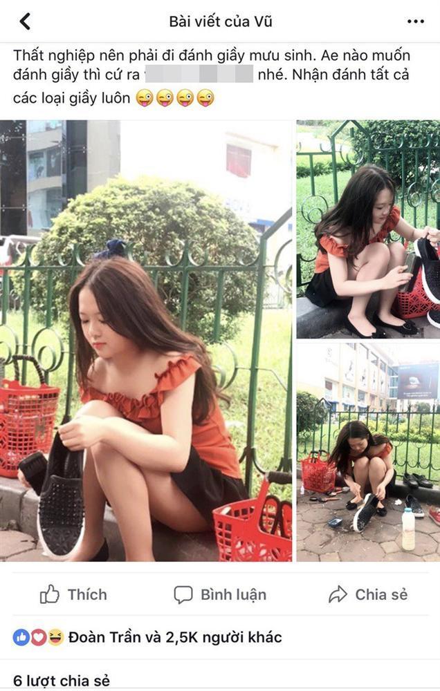 Bị nghi sống ảo khi đăng ảnh ngồi bên đường đánh giày, gái xinh Hải Dương shock nặng vì loạt tin nhắn khiếm nhã-1