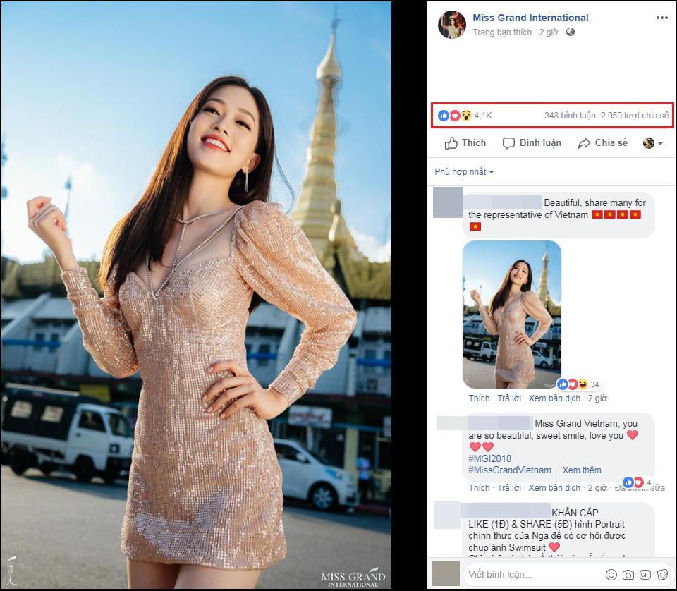 Ảnh chân dung của Bùi Phương Nga nhận bão like, share tại Miss Grand International 2018-3