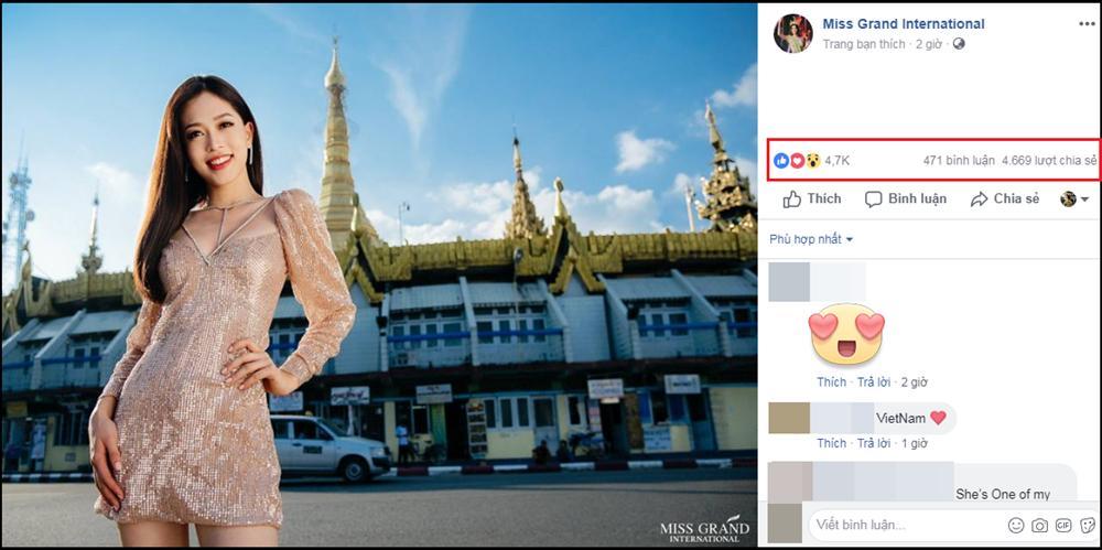 Ảnh chân dung của Bùi Phương Nga nhận bão like, share tại Miss Grand International 2018-4