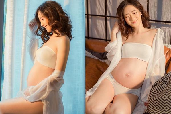 Justa Tee khoe cận nhan sắc bà xã hotgirl khi vừa mới sinh con gái đầu lòng-3