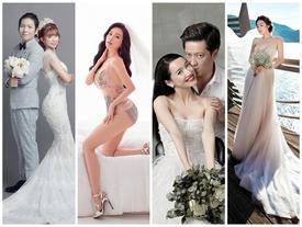 Ngoài Sĩ Thanh 'Oh my chuối', chưa cô dâu nào dám chơi trội biến bodysuit xuyên thấu thành váy cưới