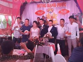 Combo quà cưới gồm nồi niêu, xoong chảo, chày cối của cô dâu, chú rể Nam Định