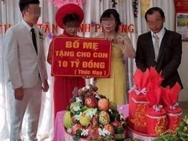 Chú rể được trao 10 tỷ đồng: 'Bố mẹ vợ đã chuyển tiền trước đám cưới'
