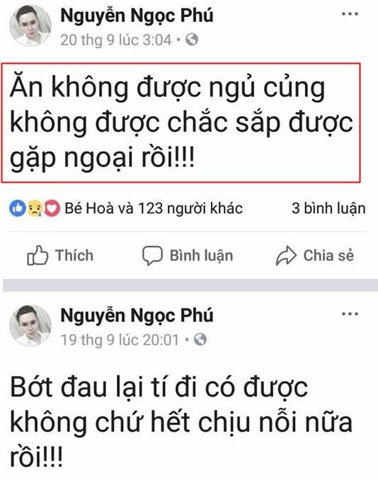 Trước khi mất, cháu ngoại quốc dân Nguyễn Ngọc Phú liên tiếp chia sẻ sự tuyệt vọng trên Facebook-4
