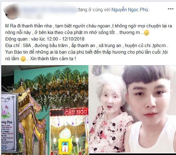 Bạn bè, người thân shock nặng trước sự ra đi của Nguyễn Ngọc Phú - chàng cháu trai hiếu thảo của bà ngoại xì tin-4