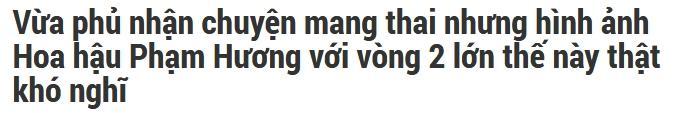 Vận đen đeo bám Phạm Hương khi ảnh hoa hậu bụng to như mang bầu năm 2016 bị dân mạng đào mộ-4