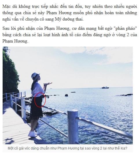 Vận đen đeo bám Phạm Hương khi ảnh hoa hậu bụng to như mang bầu năm 2016 bị dân mạng đào mộ-5