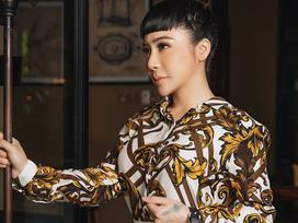Mai Diệu Linh khoe nét thanh lịch với đồ hiệu Versace