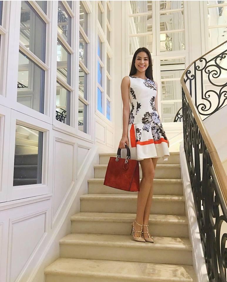 Kiên quyết bác bỏ chuyện bầu bí, Hoa hậu Phạm Hương để lộ nhẫn kim cương lạ trên ngón áp út-5