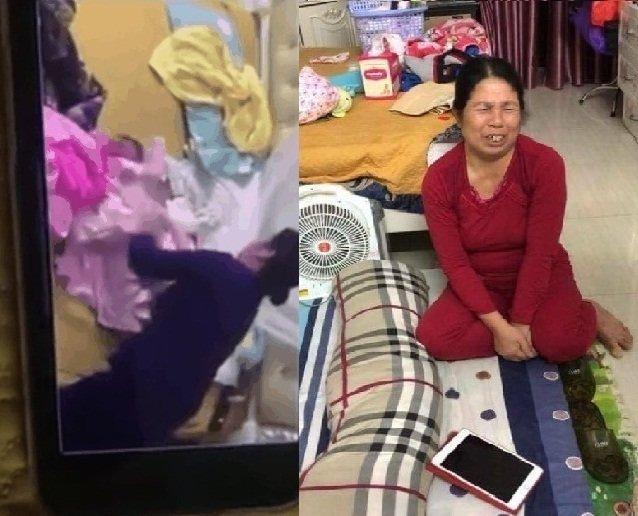 Clip người phụ nữ bịt miệng đứa bé bằng băng keo gây bão mạng-1