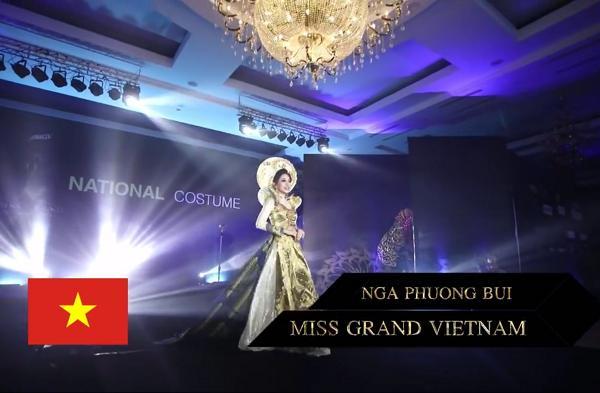 Bùi Phương Nga tỏa sáng với màn trình diễn quốc phục Ngũ Phụng Tề Phi tại Miss Grand International 2018-2