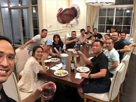 Ảnh hiếm hoi của vợ chồng Tăng Thanh Hà cùng bạn bè đón Lễ Tạ ơn thân mật trong căn biệt thự triệu đô