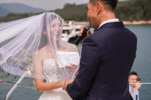 Lễ cưới trên du thuyền của tài tử TVB và người đẹp kém 13 tuổi-5