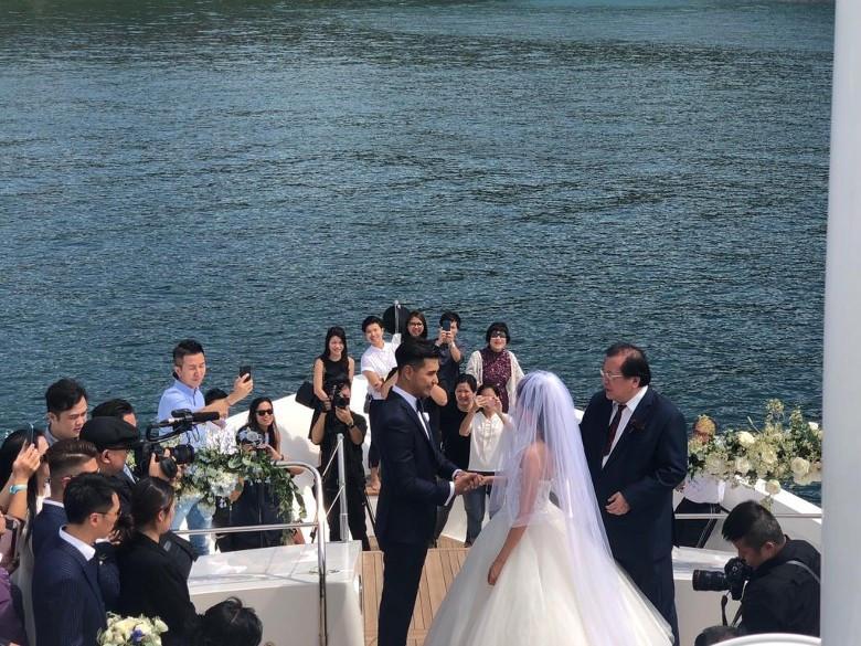 Lễ cưới trên du thuyền của tài tử TVB và người đẹp kém 13 tuổi-8