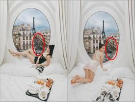 Bỏ cả đống tiền thuê khách sạn sang chảnh ở Pháp mà Ngọc Trinh vẫn bị nghi 'sống ảo mà photoshop như thật'