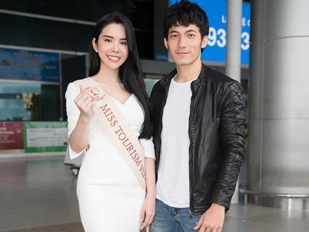 'Người tình Isaac' Liên Bỉnh Phát ra sân bay tiễn Huỳnh Vy thi Miss Tourism Queen Worldwide 2018