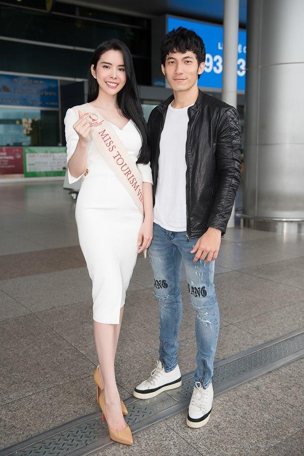 Người tình Isaac Liên Bỉnh Phát ra sân bay tiễn Huỳnh Vy thi Miss Tourism Queen Worldwide 2018-5