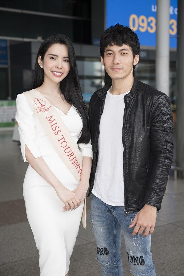 Người tình Isaac Liên Bỉnh Phát ra sân bay tiễn Huỳnh Vy thi Miss Tourism Queen Worldwide 2018-6