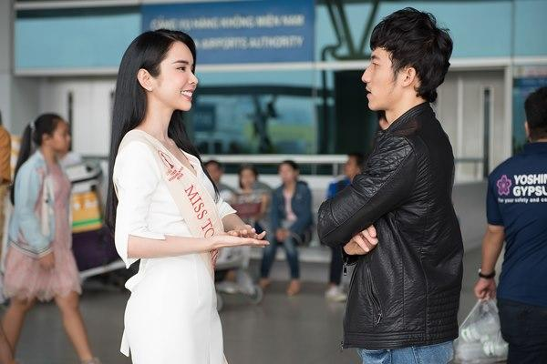Người tình Isaac Liên Bỉnh Phát ra sân bay tiễn Huỳnh Vy thi Miss Tourism Queen Worldwide 2018-7