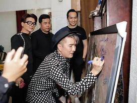 Vũ Hà thanh minh vụ nghệ sĩ bị chỉ trích khi ký tên lên tranh