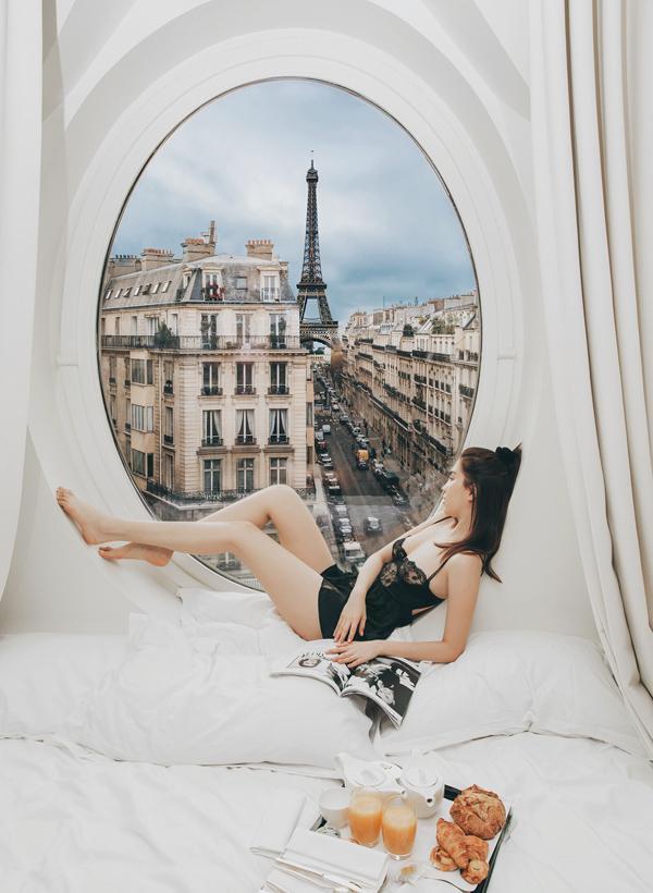 Bị mỉa mai chỉ vì sống ảo mà cả nước Pháp phải ngủ yên, Ngọc Trinh thách: Cứ qua Paris chụp rồi biết-2