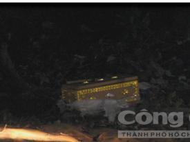 Quan tài chứa thi thể thai nhi trong bãi rác ở Bình Dương