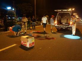 Nam thanh niên nằm chết giữa quốc lộ, cổ gần đứt lìa