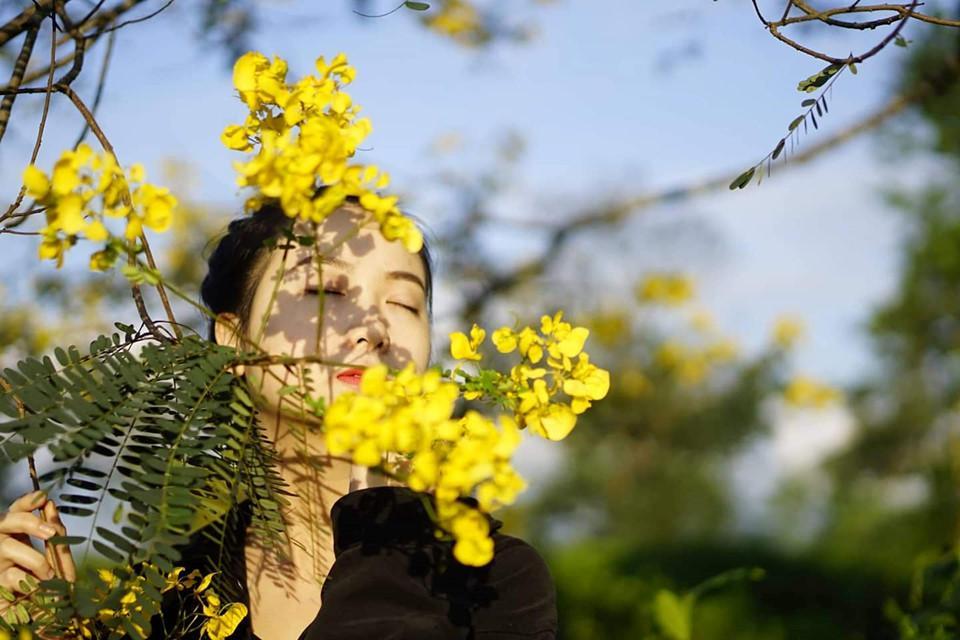 Đến Gia Lai ngất ngây trước rừng hoa muồng vàng rực-10