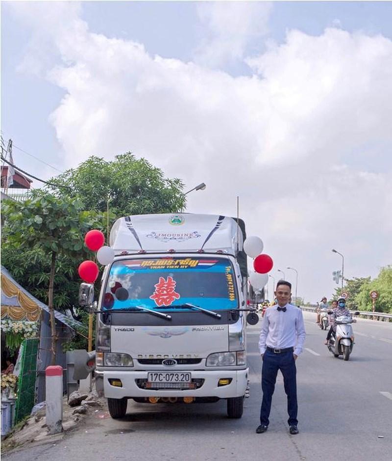 Bất ngờ với màn rước dâu bằng xe tải của chú rể ở Thái Bình-2