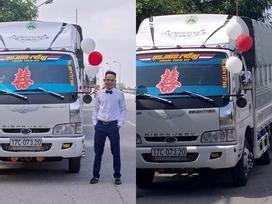 Bất ngờ với màn rước dâu bằng xe tải của chú rể ở Thái Bình