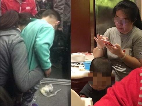 Bà mẹ lĩnh đủ 'gạch đá' khi ngang nhiên cho con trai đi tiểu trên xe buýt đông đúc