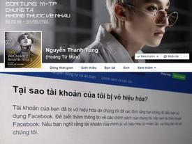 Sơn Tùng M-TP bị Facebook vô hiệu hóa trang cá nhân?