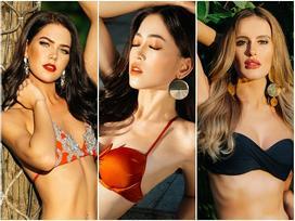 Diện bikini đỏ rực, Bùi Phương Nga đọ đường cong với 8 mỹ nhân may mắn nhất Miss Grand 2018