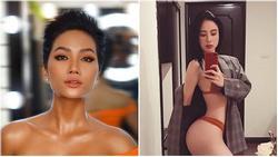 Vòng 3 lên tới 97cm sau khi tăng cân, H'Hen Niê nhăm nhe soán ngôi 'đệ nhất hông' Angela Phương Trinh