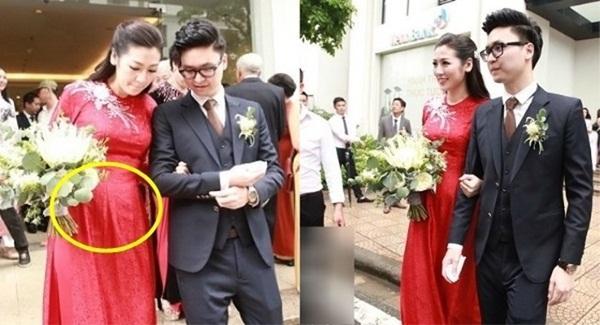 Nhất quyết không khai bác sĩ bảo cưới, Á hậu Tú Anh bụng to, mặt nặng khác lạ chỉ sau 3 tháng lấy chồng-4