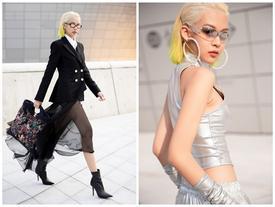 Phí Phương Anh diện nguyên hàng hiệu tiền tỷ và mái tóc vàng chanh tấn công Seoul Fashion Week