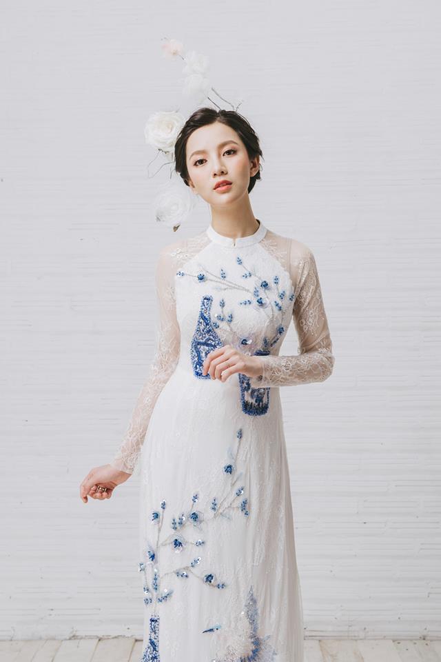 Tròn 4 tháng ở cữ nuôi con, hotgirl Tú Linh tái xuất rạng rỡ như em chưa 18 trong bộ ảnh áo dài thướt tha-2
