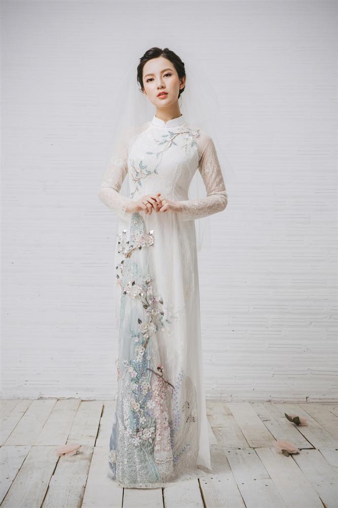 Tròn 4 tháng ở cữ nuôi con, hotgirl Tú Linh tái xuất rạng rỡ như em chưa 18 trong bộ ảnh áo dài thướt tha-9