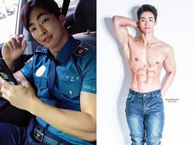 Nam cảnh sát Hàn Quốc điển trai, có thân hình chuẩn 6 múi