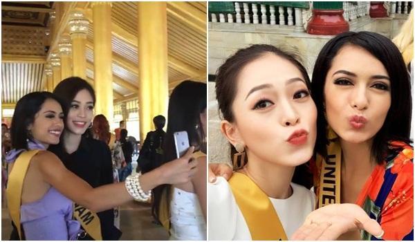 CHỌN BẠN MÀ CHƠI như Á hậu Bùi Phương Nga: Kết giao toàn nhan sắc nặng ký tại Miss Grand 2018-7