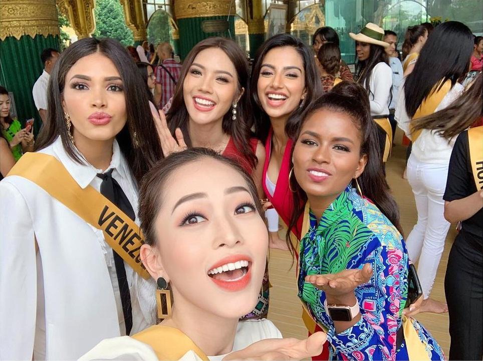 CHỌN BẠN MÀ CHƠI như Á hậu Bùi Phương Nga: Kết giao toàn nhan sắc nặng ký tại Miss Grand 2018-12