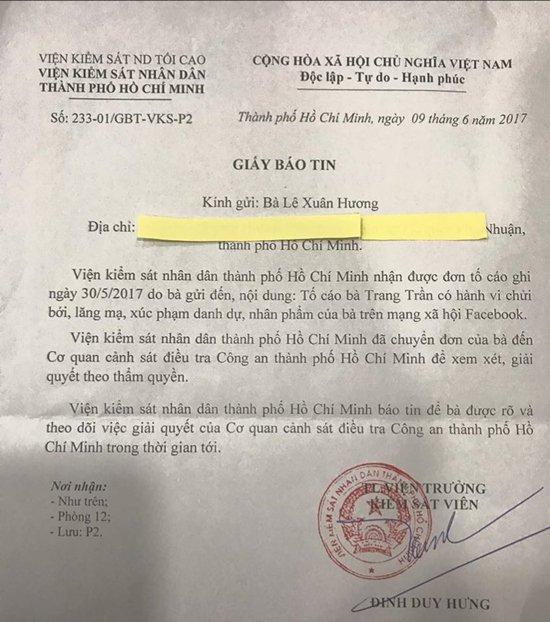 Vụ người mẫu Trang Trần đòi đánh nghệ sĩ Xuân Hương: Công an TPHCM quyết định không khởi tố-4