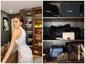 Chỉ lộ một góc tủ đồ đựng túi xách, Hoa hậu Kỳ Duyên khiến fan 'choáng váng' vì trị giá bằng căn hộ sang xịn