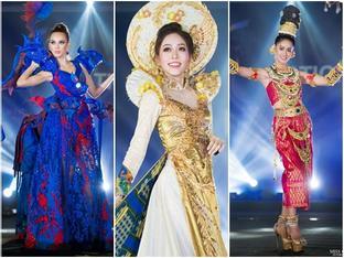 Lọt top 5 bình chọn, Áo dài của Bùi Phương Nga có cơ hội thắng giải quốc phục tại Miss Grand 2018