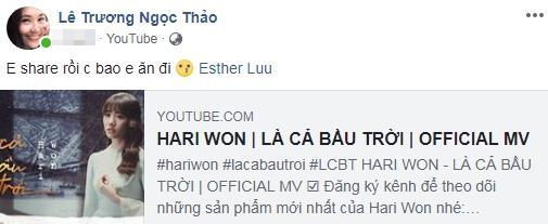 Hy sinh cày view cho Hari Won nhưng Ngọc Thảo bị đàn chị bội ơn chỉ vì đòi bao ăn-1