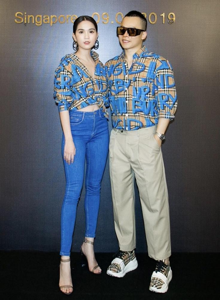Suốt ngày diện đồ đôi tình tứ, showbiz Việt có ai thân thiết như cặp ông bầu Vũ Khắc Tiệp - gà cưng Ngọc Trinh-1