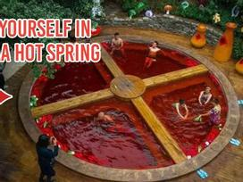 Hồ tắm nước nóng ở Trung Quốc như nồi lẩu cay khổng lồ